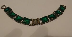 Antique glass bracelet